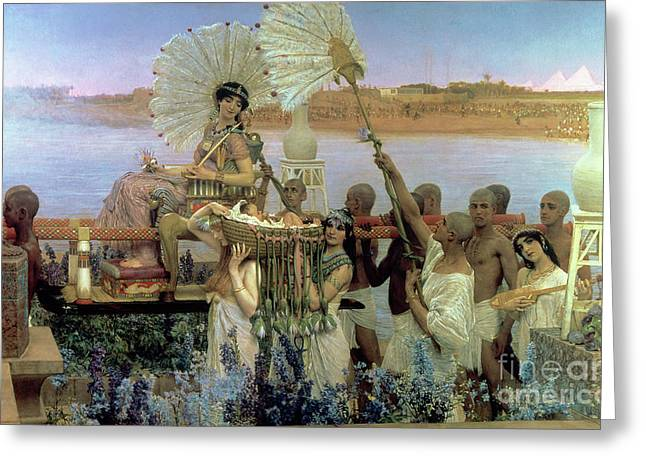 Prophet Moses Greeting Cards - The Finding of Moses Greeting Card by Sir Lawrence Alma Tadema
