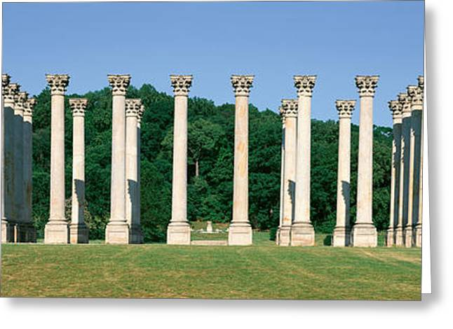 The First Capitol Columns Of The United Greeting Card by Panoramic Images