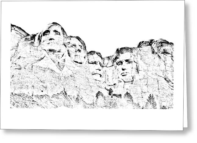 Short Sleeves Greeting Cards - The Four Presidents Greeting Card by John Bailey