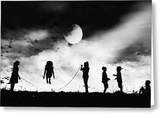Child Photographs Greeting Cards - The Game High Jump Greeting Card by Jay Satriani