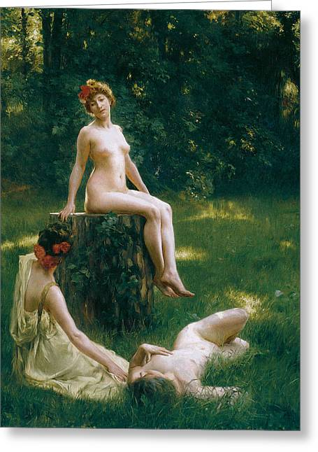 The Glade Greeting Cards - The Glade Greeting Card by Julius LeBlanc Stewart