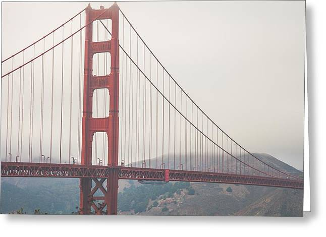 Famous Bridge Greeting Cards - The Golden Gate Bridge Greeting Card by Leonardo Patrizi