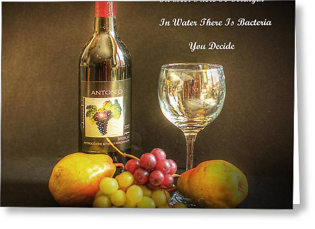 Wine-glass Greeting Cards - The Good Life Greeting Card by Arnie Goldstein