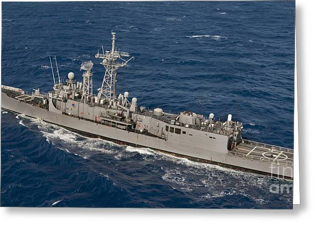 The Guided-missile Frigate Uss Reuben Greeting Card by Stocktrek Images