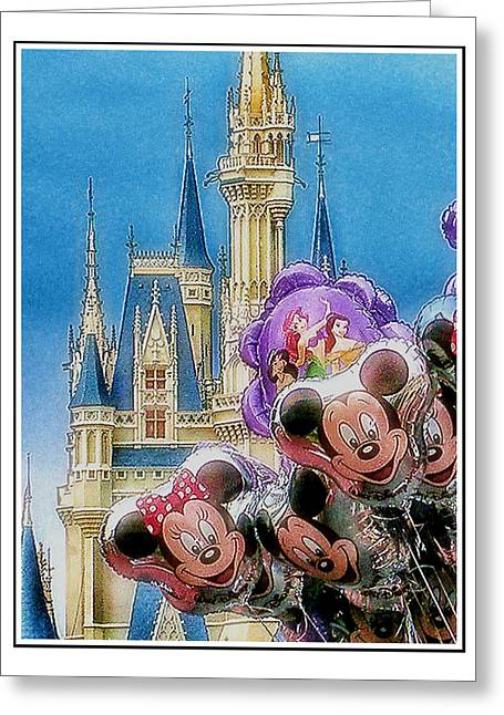 Amusements Digital Art Greeting Cards - The Happiest Place On Earth Greeting Card by Kenneth Krolikowski