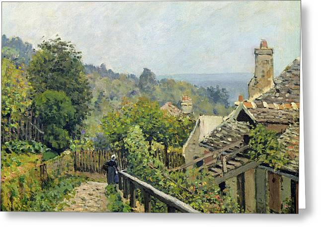 Height Paintings Greeting Cards - The Heights at Marly Greeting Card by Alfred Sisley