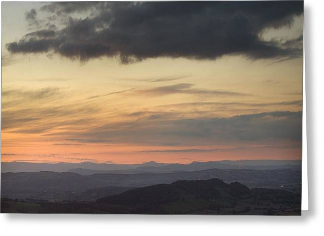 Winter Night Greeting Cards - The Herefordshire Greeting Card by Angel  Tarantella