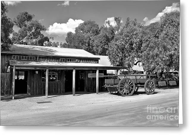 Wooden Building Greeting Cards - The Heritage town of Echuca Victoria Australia Greeting Card by Kaye Menner