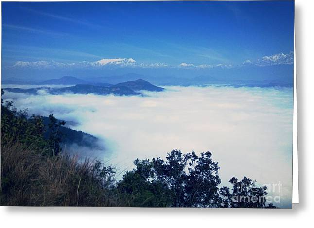 Snowy Day Greeting Cards - The Himalayas  Greeting Card by Cimorene Photography