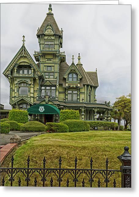Eureka Greeting Cards - The Historic Carson Mansion - Eureka California Greeting Card by Mountain Dreams