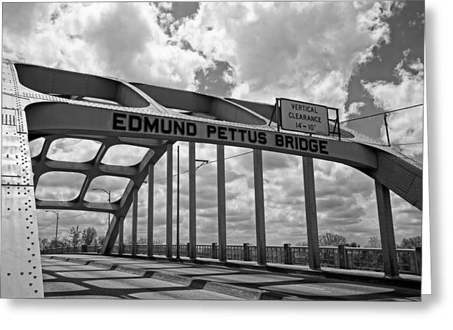 Civil Rights Greeting Cards - The Historic Edmund Pettus Bridge - Selma Alabama Greeting Card by Mountain Dreams