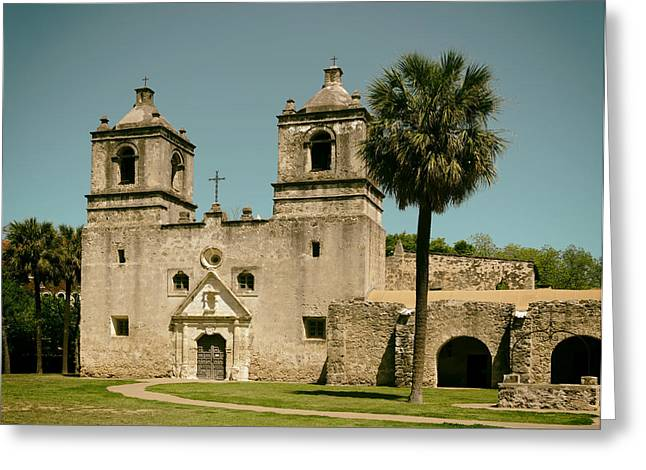 Recently Sold -  - Entrance Door Greeting Cards - The Historic Mission Concepcion in San Antonio Greeting Card by Mountain Dreams