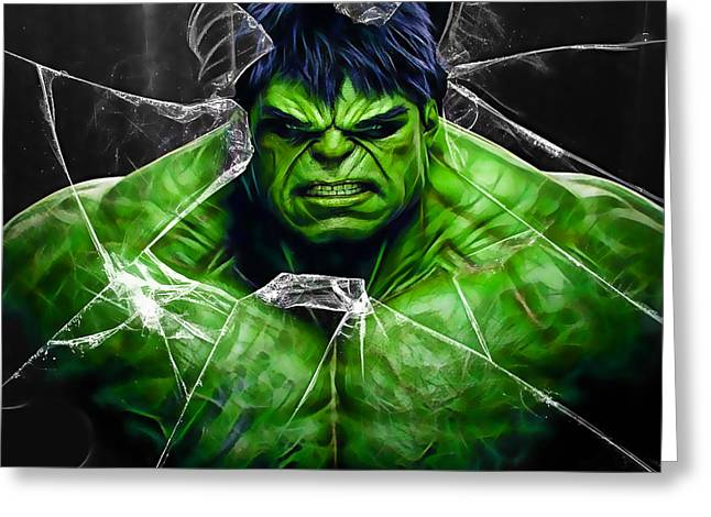 The Incredible Hulk Collection Greeting Card by Marvin Blaine