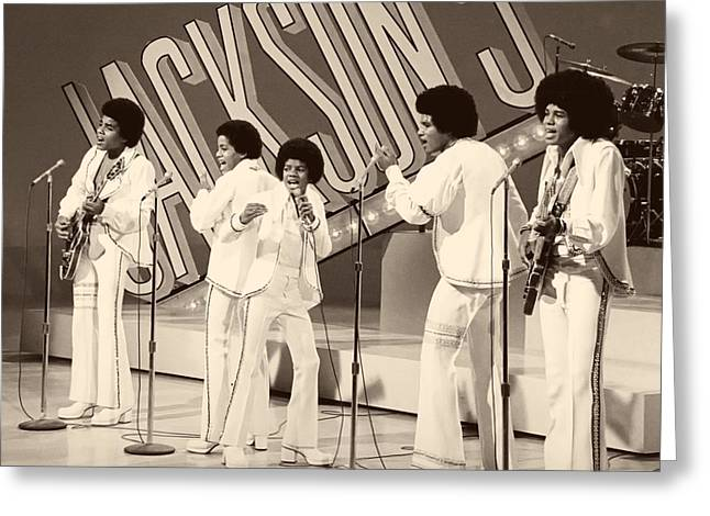 1970s Music Greeting Cards - The Jackson 5 1972 Greeting Card by Cbs
