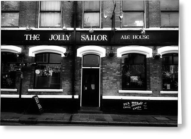 Store Fronts Greeting Cards - The Jolly Sailor Ale House Of Canterbury Greeting Card by Ales Krivec