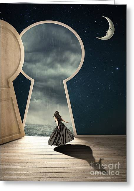 The Key Hole Greeting Card by Juli Scalzi