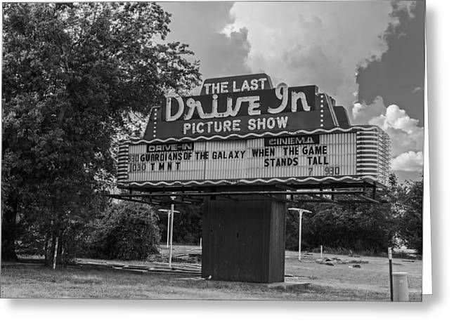 Drive In Theatre Greeting Cards - The Last Drive In Picture Show Greeting Card by Mountain Dreams