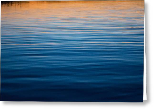 Sunset Abstract Greeting Cards - The Last Light Greeting Card by Parker Cunningham