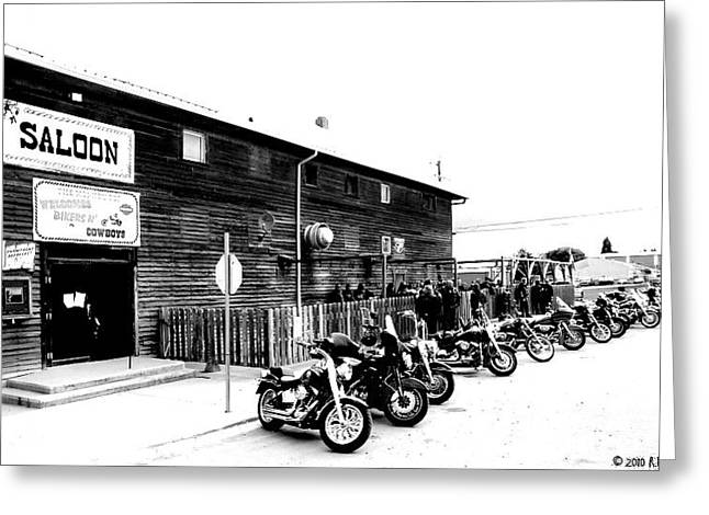Saloons Mixed Media Greeting Cards - The Last Ride Greeting Card by Russ Mashford