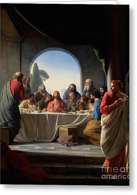 The Last Supper Greeting Card by Celestial Images