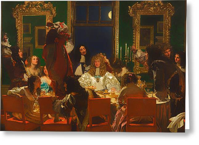 Banquet Greeting Cards - The Life Of Buckingham Greeting Card by Augustus Leopold Egg