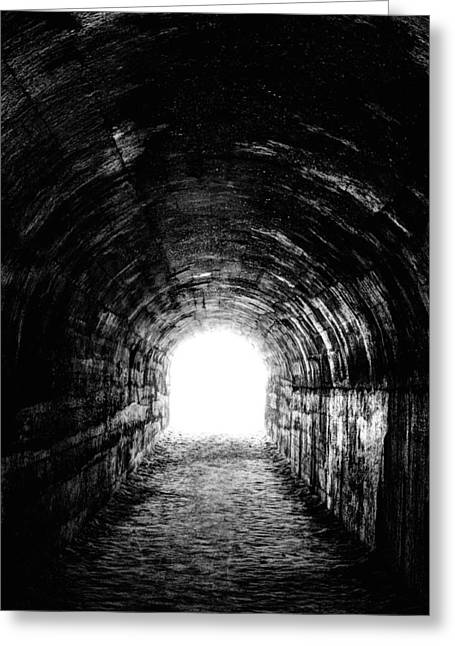 Light At The End Of The Tunnel Greeting Cards - The Light at the End Greeting Card by JC Findley