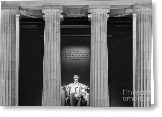 Abraham Lincoln Pictures Greeting Cards - The Lincoln Memorial Greeting Card by Henk Meijer Photography