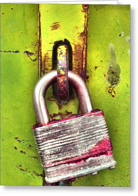 Imperfect Greeting Cards - The Lock Greeting Card by Tara Turner