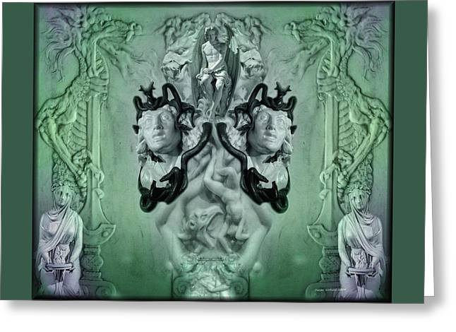 Vestal Greeting Cards - The Lord Of Shadows Greeting Card by Daniel  Arrhakis
