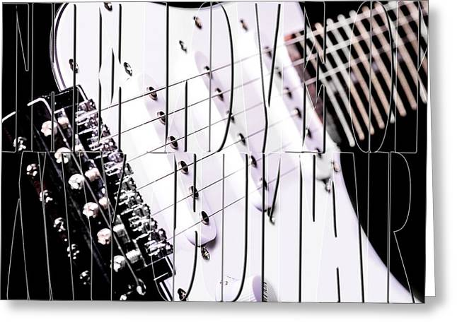 The Love Of My Guitar Greeting Card by Toppart Sweden