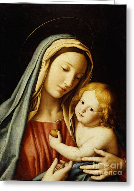 Child Jesus Greeting Cards - The Madonna and Child Greeting Card by Il Sassoferrato