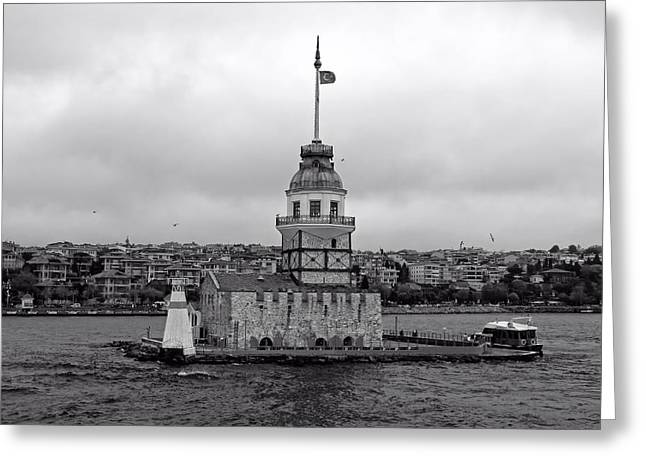 Istanbul Greeting Cards - The Maiden Tower Of Istanbul Greeting Card by Falco