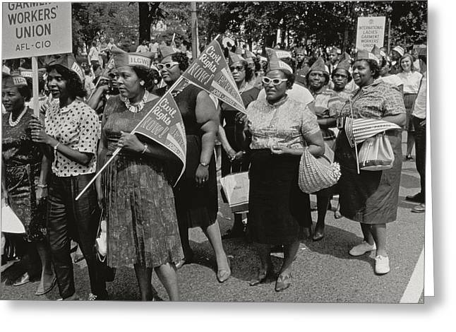 Civil Rights Movement Greeting Cards - The March on Washington Greeting Card by Nat Herz