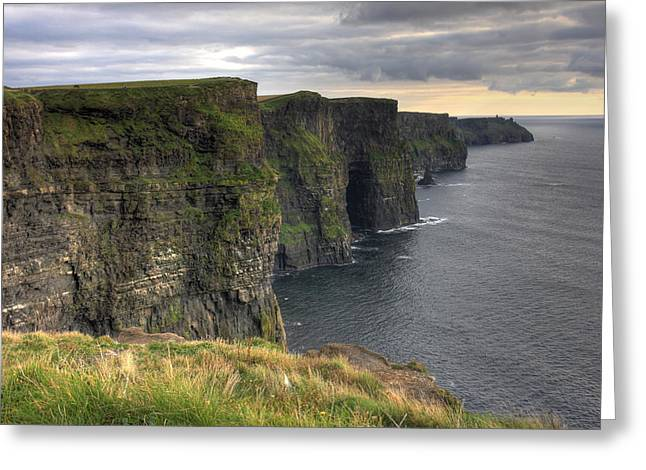 Cliffs Of Moher Greeting Cards - The Mighty Cliffs of Moher in Ireland Greeting Card by Pierre Leclerc Photography