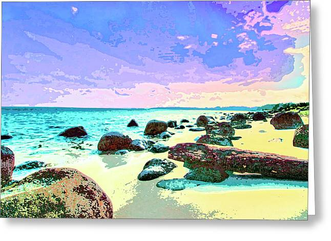Lahaina Mixed Media Greeting Cards - The Morning After Greeting Card by Dominic Piperata