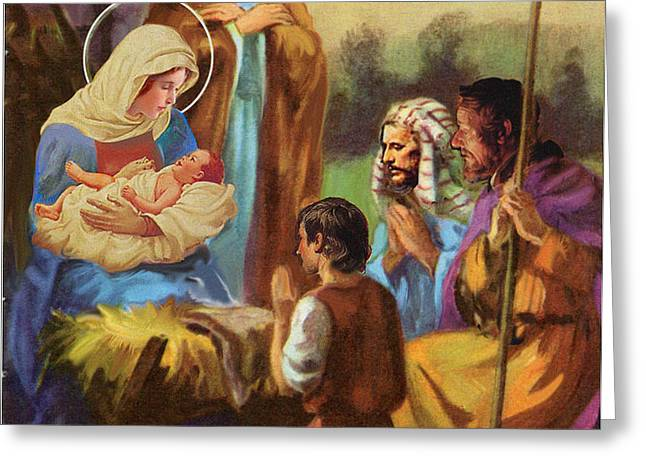 The Nativity Greeting Card by Valerian Ruppert