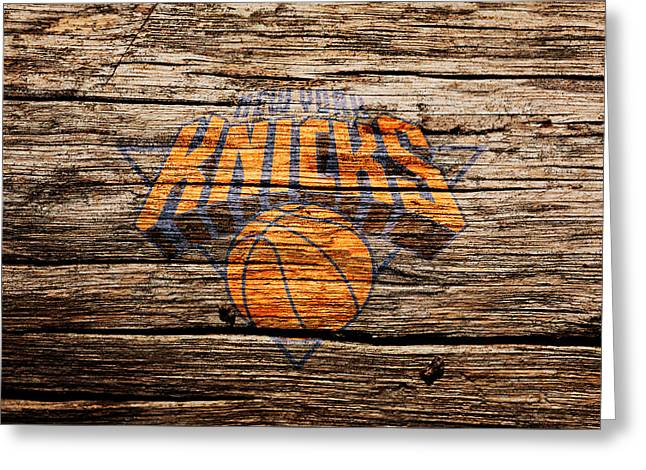 The New York Knicks 1b Greeting Card by Brian Reaves