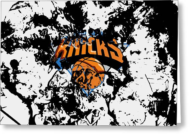 The New York Knicks Greeting Card by Brian Reaves
