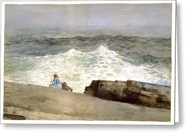 The Northeaster Greeting Card by Winslow Homer