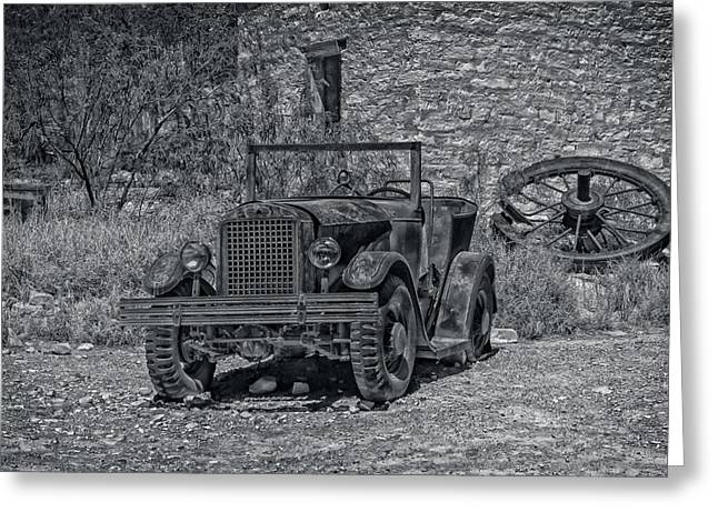 Terlingua Texas Greeting Cards - The Old Jalopy Greeting Card by Mountain Dreams