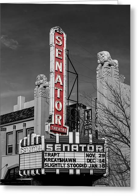 Chico Greeting Cards - The Old Senator Theatre Greeting Card by Mountain Dreams