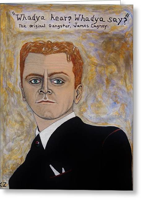 Angels With Dirty Faces Greeting Cards - The original gangster.James Cagney. Greeting Card by Ken Zabel