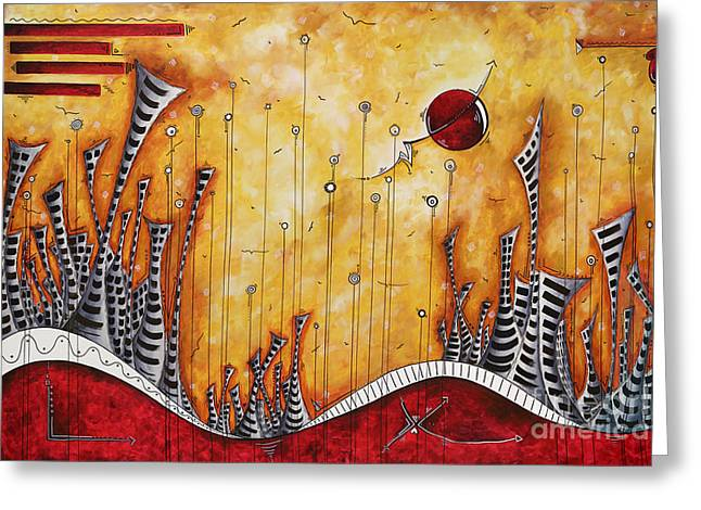 Licensor Greeting Cards - The Outpost Oversized Original Cityscape Apocalyptic Painting by Megan Duncanson Greeting Card by Megan Duncanson