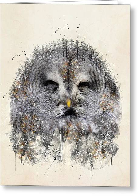 Cute Owl Greeting Cards - The Owl Greeting Card by Bri Buckley