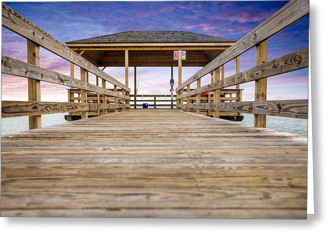 The Pier Greeting Card by Al Hurley