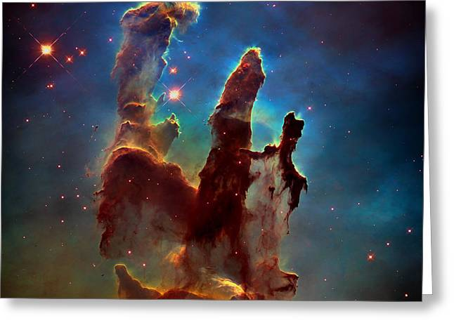 The Final Frontier Greeting Cards - The Pillars Of Creation Greeting Card by Nasa