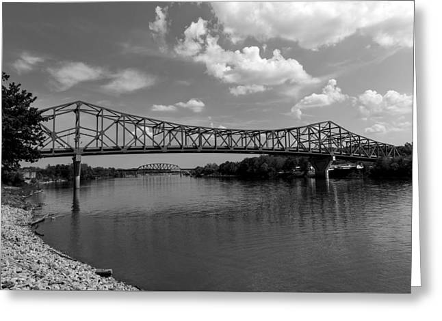 Point Pleasant Greeting Cards - The Point Pleasant - Henderson Bridge - West Virginia Greeting Card by Mountain Dreams