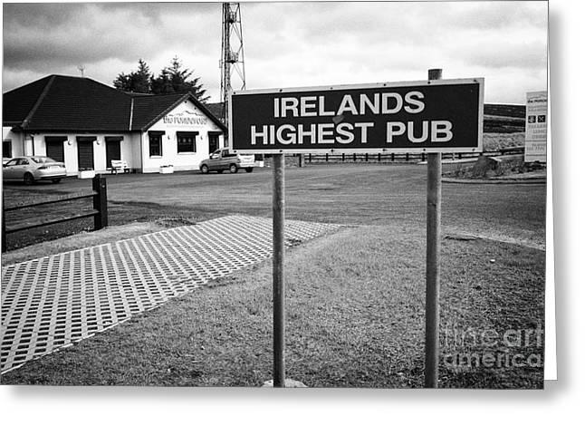 Ponderosa Greeting Cards - the Ponderosa Irelands highest pub in the Glenshane pass county derry londonderry northern ireland Greeting Card by Joe Fox