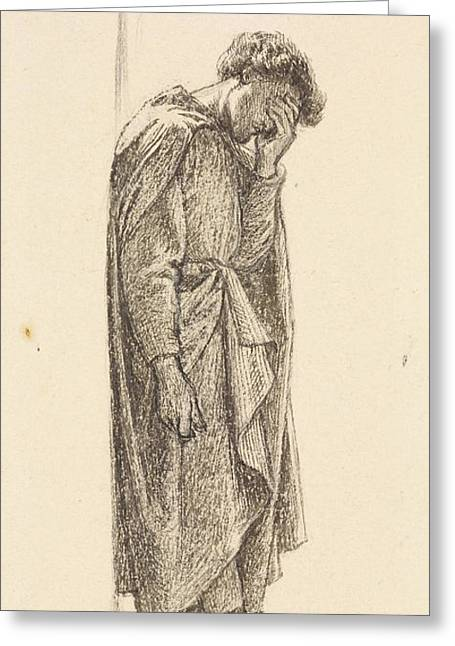 The Prince's Progress Greeting Card by Dante Gabriel Rossetti