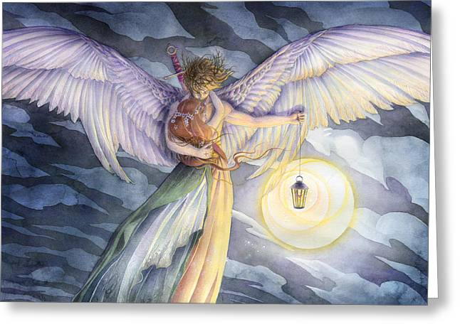 The Protector Greeting Card by Sara Burrier